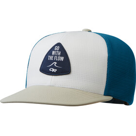 Outdoor Research Performance Trucker Cap Go with the Flow white/hazelwood/peacock